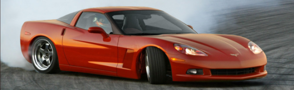 2010 Corvette drifting