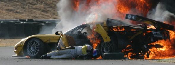 04ALMS_Earnhardt_crash_fire_Sonoma